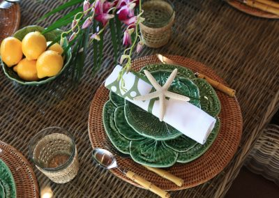 bahamas table decoration
